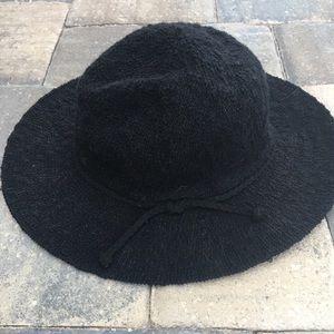 Kendall & Kylie Black full rim boho hat